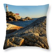 Point Atchison Lighthouse 1 Throw Pillow