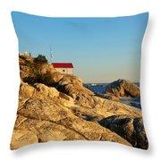 Point Atchison Lighthouse 2 Throw Pillow
