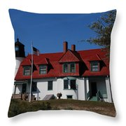 Point Betsie Light Station Throw Pillow