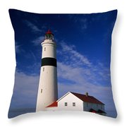 Point Lamour Lighthouse Throw Pillow