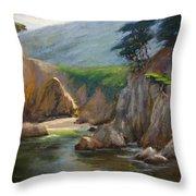 Point Lobos Hidden Cove Throw Pillow