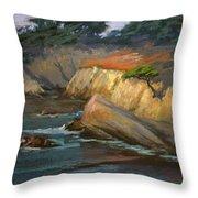 Point Lobos Last Light Throw Pillow