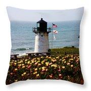 Point Montara Lighthouse Vista Throw Pillow