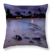 Poipu Evening Storm Throw Pillow by Mike  Dawson