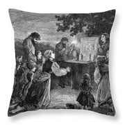 Poland: Cholera, 1873 Throw Pillow