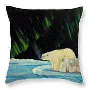 Polar Cinema Throw Pillow
