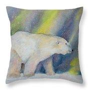 Polar Lights Throw Pillow