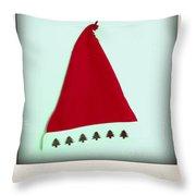 Polaroid Of A Christmas Hat Throw Pillow