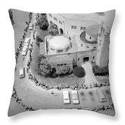 Polio Immunization, Aerial View, 1962 Throw Pillow