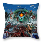 Pollution Shall Thank You Throw Pillow