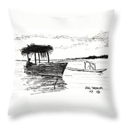 Polynesian Outrigger Throw Pillow
