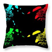 Pom Pom Pop Art Throw Pillow