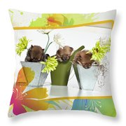Pomeranian 4 Throw Pillow by Everet Regal