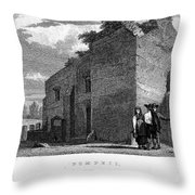 Pompeii: Bathhouse, C1830 Throw Pillow