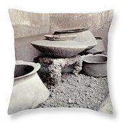 Pompeii: Cooking Pots Throw Pillow