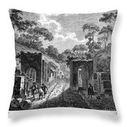 Pompeii: Herculaneum Gate Throw Pillow