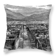 Pompeii: Ruins, C1880 Throw Pillow