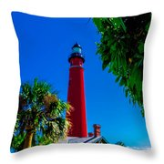 Ponce Inlet Lighthouse 1 Throw Pillow