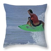 Ponce Surfer Soar Throw Pillow