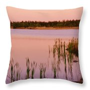 Pond At Dawn, Northwest Territories Throw Pillow