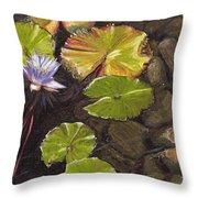 Pond Flower Throw Pillow