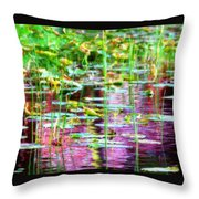 Pond In Purple Throw Pillow