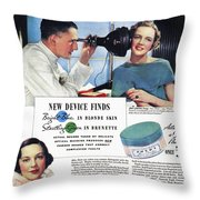 Ponds Face Powder, 1934 Throw Pillow