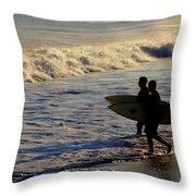 Ponquogue Surfers Throw Pillow