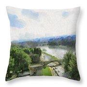 Pont De St Benezet - Avignon Throw Pillow