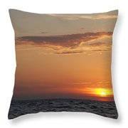 Pontchartrain Sunset Throw Pillow