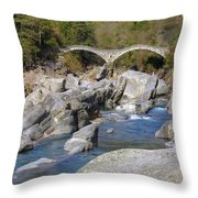 Ponte Dei Salti - Lavertezzo Throw Pillow