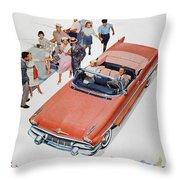 Pontiac Advertisement 1957 Throw Pillow