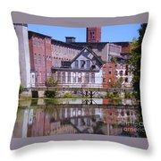 Pontiac Mills Dam Throw Pillow