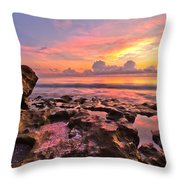 Pool Clouds Throw Pillow