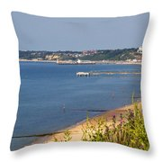 Poole Bay - June 2010 Throw Pillow