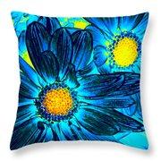 Pop Art Daisies 7 Throw Pillow