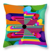 Pop Flower Throw Pillow