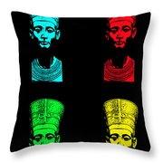 Pop Nefertiti Throw Pillow
