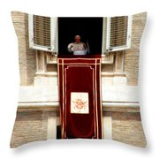 Pope Benedict Xvi B Throw Pillow by Andrew Fare