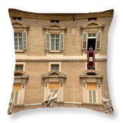 Pope Benedict Xvi C Throw Pillow by Andrew Fare
