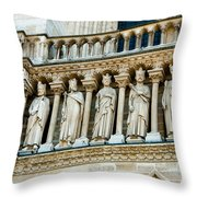 Popes At Notre Dame Cathedral Throw Pillow