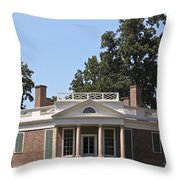 Poplar Forest From The Lawn Throw Pillow