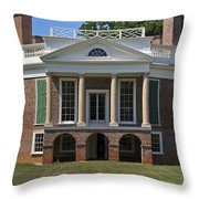 Poplar Forest From The South Lawn Throw Pillow