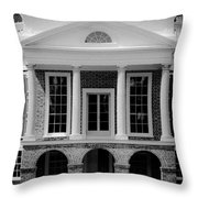 Poplar Forest South Portico Bw Throw Pillow