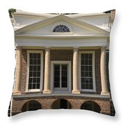 Poplar Forest South Portico Throw Pillow