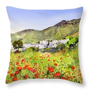 Poppies At Las Hortichuelas Throw Pillow