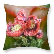 Poppies Big And Bold Throw Pillow