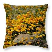 Poppies Everywhere Throw Pillow