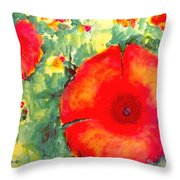 Poppies Face To The Sun Throw Pillow
