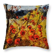 Poppies In Provence 456321 Throw Pillow